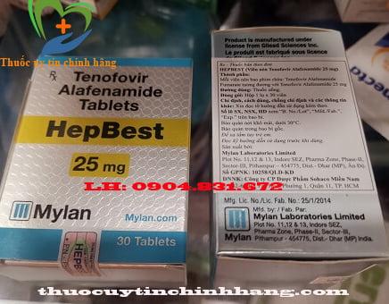 Thuốc hepbest công ty mylan nhập khẩu chính hãng