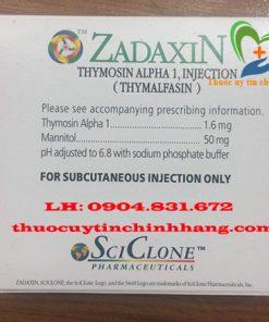 Thuốc Zadaxin 1.6mg giá bao nhiêu